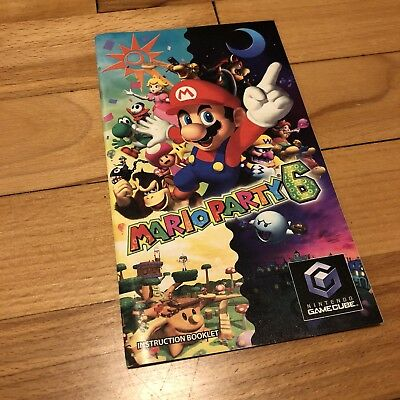 Mario Party 6 Nintendo Gamecube Instruction Manual Booklet Only