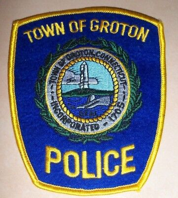 Town Of Groton Connecticut Police Shoulder Patch Ct Brand New