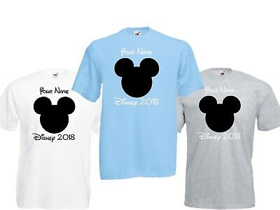 Personalised Micky Mouse Disney World 2019/2020 Vacation T shirts, Florida/Paris