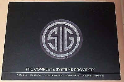 New 2018 Sig Sauer Firearms Product Catalog Dealer Sales Brochure Police Nypd