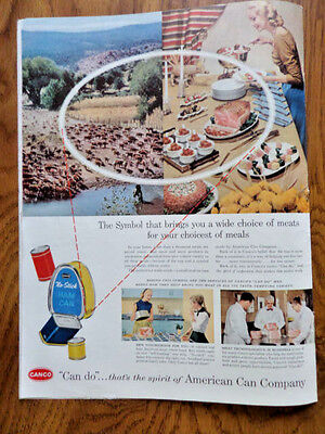 1956 Canco American Can Co Ad Symbol brings you A Wide Choice of Meats