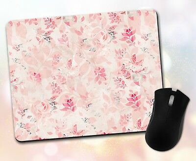 Patterns ~ Leaves, Layered, Pink ~ Vivid Mouse Pad 21