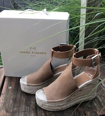 9f3ab01bbd5 MARC FISHER LTD Womens 'Annie' Natural Tan Suede Espadrille Sandals