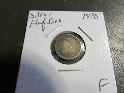 1835 Silver Capped Bust Half Dime F