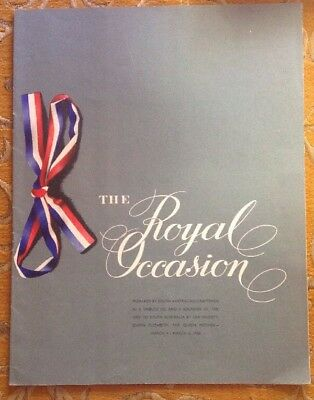 The Royal Occasion, Souvenir of Queen Mother's Visit to Adelaide 1958