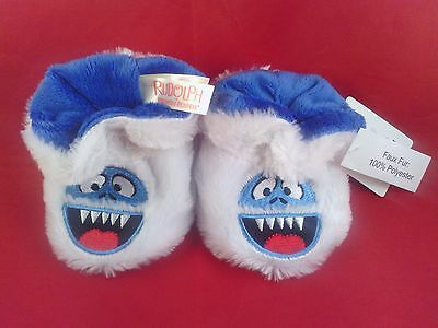 NWT Rudolph Bumble Abominable Snowman Slippers Infant size 1-2 (0 - 6 months)