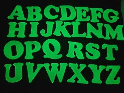 """2 Sets Glow In The Dark Alphabet Letter """"A-Z"""" Decorations Wall Stickers 26pcs"""