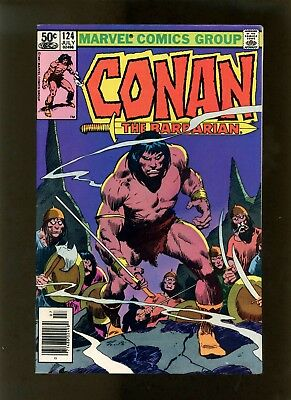 Conan the Barbarian #124 (Newsstand Edition) VF Buscema, McLeod, Roussos