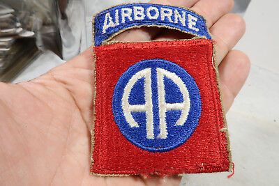 WWII US Army 82nd Airborne Attached Tab Patch HUGE SNOW BACK