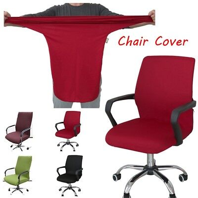 Solid Elastic Stretch Office Computer Chair Cover Seat Protector Office Decor