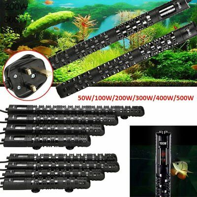Uk Aquazonic Eco Aquarium Fish Tank Heater Submersible Stat 50W 100W 200W 500W