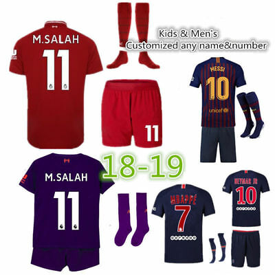 18/19 Football Soccer Jerseys kits Boys Kids Short Sleeve Spearswear  With Socks