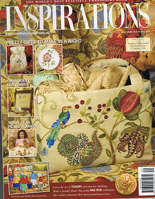 INSPIRATIONS MAGAZINE issue 62 pattern attached BEAUTIFUL EMBROIDERY