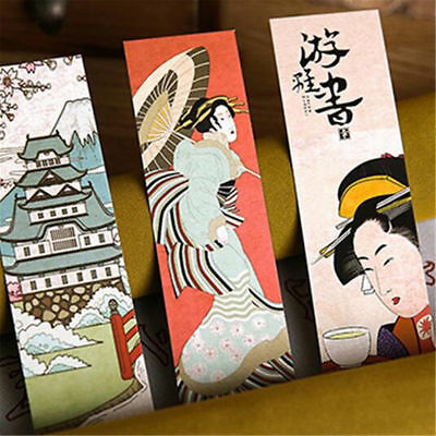 Novelty Lots of 30pcs Paper Bookmark Vintage Japanese Style Book Marks For Kid