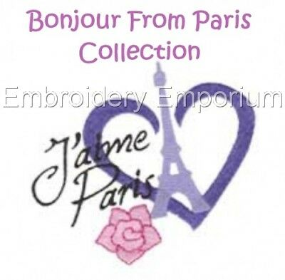 Bonjour From Paris Collection - Machine Embroidery Designs On Cd