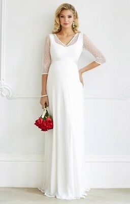 ab41ab195cf3e Tiffany Rose Silvia Maternity Wedding Gown Dress, Size 14-16, Immaculate.