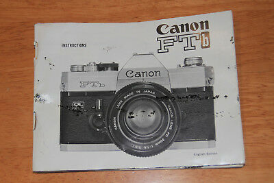 Vintage Canon FTb Film Camera Instruction Manual English