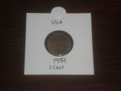 1983 USA 1 Cent coin United State of America one cents Lincoln American
