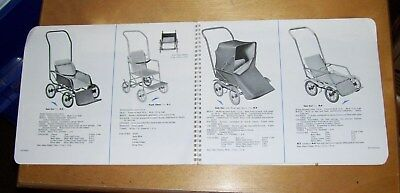 Atcraft Nursery Furniture Folding Pushchairs Summer Furniture Catalogue 1954