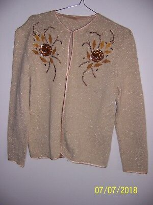 vintage cardigan with bead and sequin design size 12