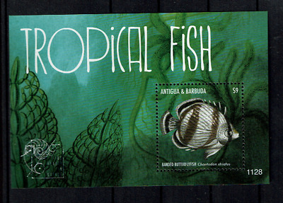 ANTIGUA  MNH SHEET VISSEN FISH MARINE SEALIFE Fisch poisson pesce pescado
