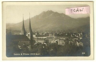 +++ Carte photo  : Luzern & Pilatus (bromure H. Martin)