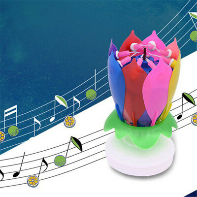 Birthday Candle Singing Double Layer Rotation Birthday Cake Rotary Music QWIT