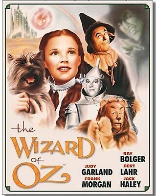 Wizard of OZ Metal Tin Sign Movie Poster Home Home Wall Decor