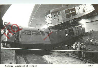 Picture Postcard: Railway Accident At Hendon, 1988