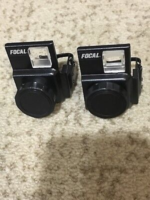 Vtg Focal Auxiliary Lens Set Telephoto Wideangle Kodak Disc Cameras w/ Case