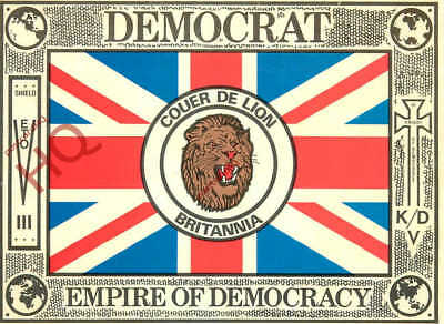 Picture Postcard-:Democrat Empire Of Democracy (Holywell Whitley Bay) Union Flag