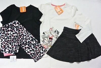 Gymboree 7/8 girls 4-PC KITTY IN PINK LS Top 8 SS Black Top 7/8 Skirt Pants NWT
