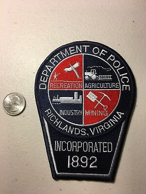 Richlands Virginia Police Department Patch Va