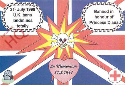 Postcard~ The Uk Ban On Landmines, Princess Diana, Jackie Bird [Milestones]