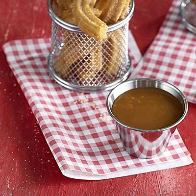 RED Gingham Duplex Paper Food Wrap Greaseproof Chip Basket Liners 250x375mm