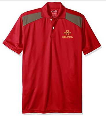 5f5ad106 NWT S Men's NCAA Iowa State Cyclones Old Varsity Brand Polo Shirt Small Red