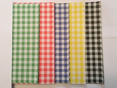 MIX ALL Gingham Duplex Paper Food Wrap Greaseproof Chip Basket Liners 250x375mm