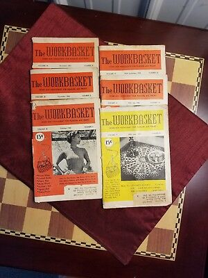 Vintage - The Workbasket Magazine Issues 1952 Volumes 17 & 18 - Lot of 6