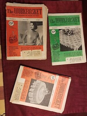 Vintage - The Workbasket Magazine Issues 1953 Volumes 18 & 19 - Lot of 10