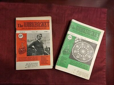 Vintage - The Workbasket Magazine Issues 1954 Volumes 19 & 20 - Lot of 11