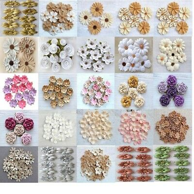 Handcrafted Paper flower craft embellishments