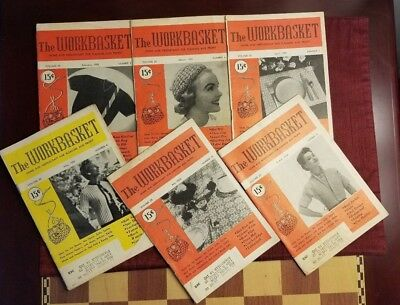 Vintage - The Workbasket Magazine Issues 1955 Volumes 20 & 21 - Lot of 9