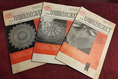 Vintage - The Workbasket Magazine Issues 1958 Volumes 23 & 24 - Lot of 3