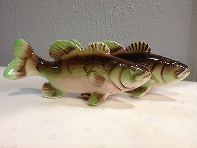 Vintage Salt & Pepper Shakers Japan Rainbow Trout Bass Pearch Excellent