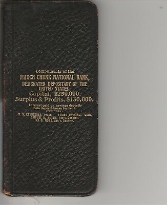 1908 Mauch Chunk New Jersey National Bank Account Book