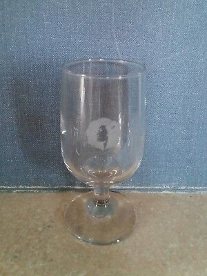 Hawaiian Airlines Inflight Wine Glass with 2001 - 2017 Pualani Logo (1 Glass)