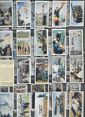 Full Set 50 Life In The Royal Navy  W.d.& H.o.wills  83 Yrs Old Cigarette Cards