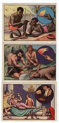 Complete Set of 6 Science Cards from 1929 Fire & Light Electricity Gas