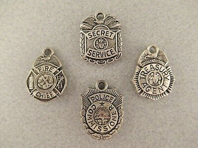 Vintage Gumball Machine Charms -  Set of 4 Badges-