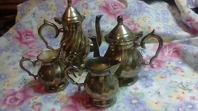 Vintage , Minature  Silverplate Tea / Coffee Set, India......lot Of 4
